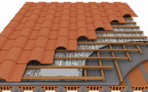 slope roof tile insulation